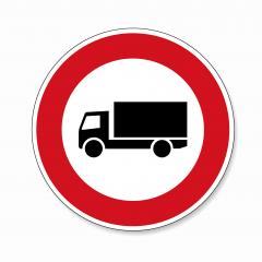 traffic sign forbidden entrance truck. German traffic sign prohibiting thoroughfare of lorries (vehicles with a gross weight over 3.5 metric tons) on white background. Vector illustration. Eps 10.- Stock Photo or Stock Video of rcfotostock | RC-Photo-Stock