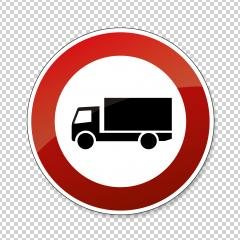traffic sign forbidden entrance truck. German traffic sign prohibiting thoroughfare of lorries (vehicles with a gross weight over 3.5 metric tons) on transparent background. Vector illustration. Eps10 : Stock Photo or Stock Video Download rcfotostock photos, images and assets rcfotostock | RC-Photo-Stock.: