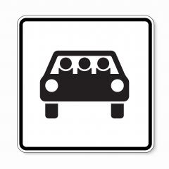 traffic sign multi-passenger car vehicles. German sign for Multi-people sharing a car on white background. Vector illustration. Eps 10 vector file. : Stock Photo or Stock Video Download rcfotostock photos, images and assets rcfotostock | RC-Photo-Stock.: