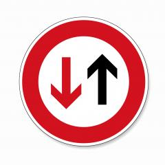 traffic sign no passing. German traffic sign indicating that oncoming traffic has priority on white background. Vector illustration. Eps 10 vector file.- Stock Photo or Stock Video of rcfotostock | RC-Photo-Stock