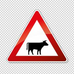 traffic sign no passing. German traffic sign warning about likeliness of traffic queues on checked transparent background. Vector illustration. Eps 10 vector file.- Stock Photo or Stock Video of rcfotostock | RC-Photo-Stock