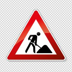 traffic sign pedestrian crossing. German sign warning about a pedestrian crossing in German Zebrastreifen on checked transparent background. Vector illustration. Eps 10 vector file.  : Stock Photo or Stock Video Download rcfotostock photos, images and assets rcfotostock | RC-Photo-Stock.: