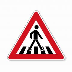 traffic sign pedestrian crossing. German sign warning about a pedestrian crossing in German Zebrastreifen on white background. Vector illustration. Eps 10 vector file.  : Stock Photo or Stock Video Download rcfotostock photos, images and assets rcfotostock | RC-Photo-Stock.: