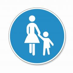 traffic sign pedestrian, German sign at a pedestrian lane depicting mother and child. Vector illustration. Eps 10 vector file.- Stock Photo or Stock Video of rcfotostock | RC-Photo-Stock