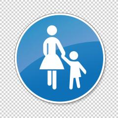 traffic sign pedestrian, German sign at a pedestrian lane depicting mother and child on checked transparent background. Vector illustration. Eps 10 vector file.- Stock Photo or Stock Video of rcfotostock | RC-Photo-Stock