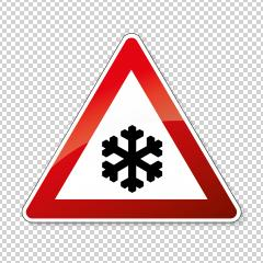 traffic sign snowfall. A road warning sign in Germany: Ice on checked transparent background. Vector illustration. Eps 10 vector file. : Stock Photo or Stock Video Download rcfotostock photos, images and assets rcfotostock | RC-Photo-Stock.: