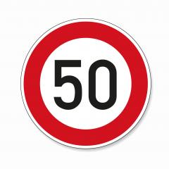 traffic sign speed limit fifty. German traffic sign restricting speed to 50 kilometers per hour on white background. Vector illustration. Eps 10 vector file.- Stock Photo or Stock Video of rcfotostock | RC-Photo-Stock