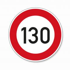 traffic sign speed limit one hundred thirty. German traffic sign restricting speed to 130 kilometers per hour on white background. Vector illustration. Eps 10 vector file.- Stock Photo or Stock Video of rcfotostock | RC-Photo-Stock