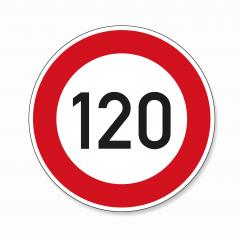 traffic sign speed limit one hundred twenty. German traffic sign restricting speed to 120 kilometers per hour on white background. Vector illustration. Eps 10 vector file.- Stock Photo or Stock Video of rcfotostock | RC-Photo-Stock