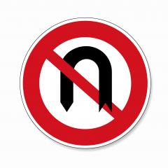 traffic sign turn forbade. German regulatory road sign: No U-Turn on white background. Vector illustration. Eps 10 vector file.- Stock Photo or Stock Video of rcfotostock | RC-Photo-Stock