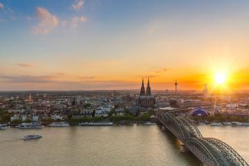 travel to cologne in germany at sunset - Stock Photo or Stock Video of rcfotostock | RC-Photo-Stock