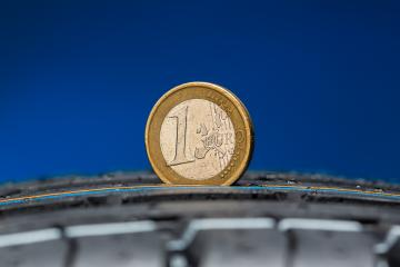 Tread depth measured at car tire with Euro coin : Stock Photo or Stock Video Download rcfotostock photos, images and assets rcfotostock | RC-Photo-Stock.: