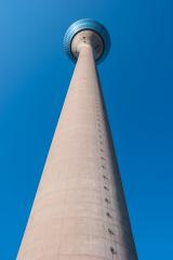 Tv Tower Dusseldorf against blue sky- Stock Photo or Stock Video of rcfotostock | RC-Photo-Stock