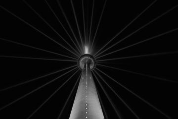 TV Tower dusseldorf in black and white colors, germany : Stock Photo or Stock Video Download rcfotostock photos, images and assets rcfotostock | RC-Photo-Stock.: