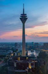 Tv Tower Dusseldorf old town at sunset- Stock Photo or Stock Video of rcfotostock | RC-Photo-Stock