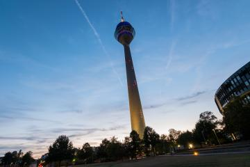 Tv Tower Dusseldorf old town at susnet- Stock Photo or Stock Video of rcfotostock | RC-Photo-Stock