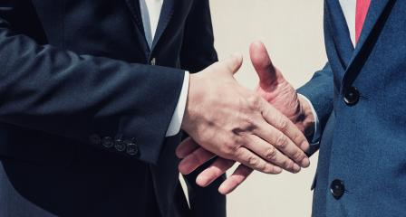 two businessman handshaking process- Stock Photo or Stock Video of rcfotostock | RC-Photo-Stock