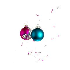Two christmas balls collides- Stock Photo or Stock Video of rcfotostock | RC-Photo-Stock