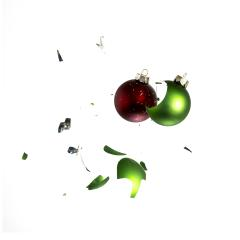 Two christmas balls crashing- Stock Photo or Stock Video of rcfotostock | RC-Photo-Stock