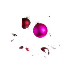 Two christmas balls shattered- Stock Photo or Stock Video of rcfotostock | RC-Photo-Stock