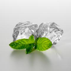 two ice cubes with mint- Stock Photo or Stock Video of rcfotostock | RC-Photo-Stock