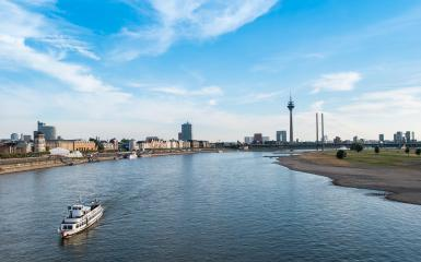 Typical view of the skyline of Dusseldorf in Germany- Stock Photo or Stock Video of rcfotostock | RC-Photo-Stock