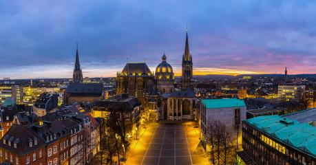 UNESCO-Welterbe Aachener Dom bei Nacht- Stock Photo or Stock Video of rcfotostock | RC-Photo-Stock