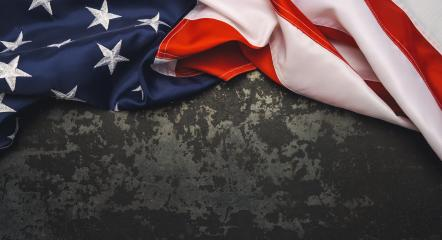 United States Flag On Black Background. copyspace for your individual text.- Stock Photo or Stock Video of rcfotostock | RC-Photo-Stock
