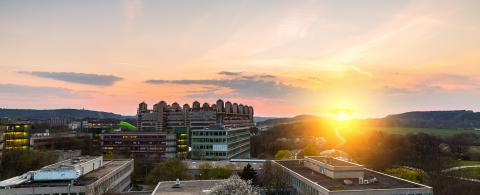 university hospital aachen sunset panorama- Stock Photo or Stock Video of rcfotostock | RC-Photo-Stock