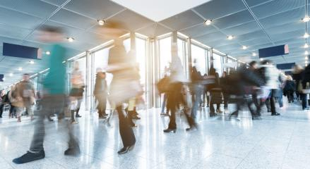 unrecognizable Commuters in a airport corridor- Stock Photo or Stock Video of rcfotostock | RC-Photo-Stock