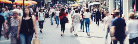 Unrecognizable crowd of people in a shopping street- Stock Photo or Stock Video of rcfotostock | RC-Photo-Stock