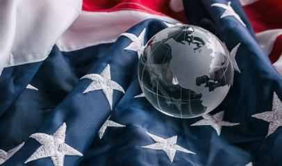 USA American flag with glass globle- Stock Photo or Stock Video of rcfotostock | RC-Photo-Stock