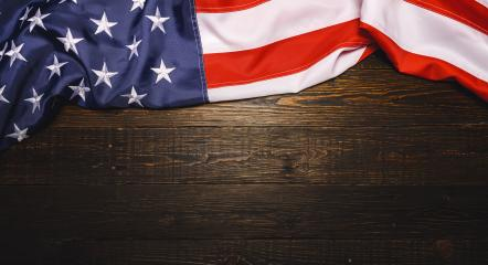 USA flagon placed on old grunge wooden planks. Motive of celebration, copyspace for your individual text.- Stock Photo or Stock Video of rcfotostock | RC-Photo-Stock