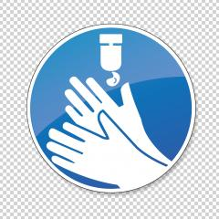 Use hand sanitiser to clean hands, mandatory sign or safety sign, on checked transparent background. Vector illustration. Eps 10 vector file. : Stock Photo or Stock Video Download rcfotostock photos, images and assets rcfotostock | RC-Photo-Stock.:
