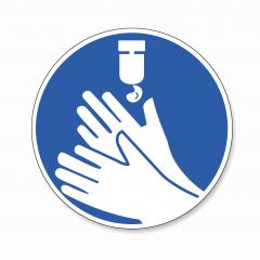Use hand sanitiser to clean hands, mandatory sign or safety sign, on white background. Vector illustration. Eps 10 vector file. : Stock Photo or Stock Video Download rcfotostock photos, images and assets rcfotostock | RC-Photo-Stock.: