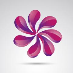 vector abstract pink beauty or cosmetics 3d icon, logo isolated design. Vector illustration. Eps 10 vector file.- Stock Photo or Stock Video of rcfotostock | RC-Photo-Stock