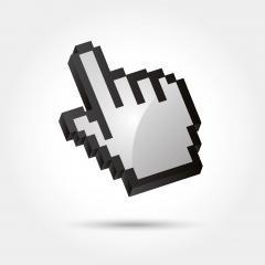 vector hand arrow 3d. Vector illustration. Eps 10 vector file.- Stock Photo or Stock Video of rcfotostock | RC-Photo-Stock