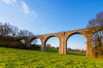 Vennbahn viaduct in aachen at srping : Stock Photo or Stock Video Download rcfotostock photos, images and assets rcfotostock | RC-Photo-Stock.: