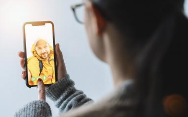 Videoconference with Boy Friend, Woman using video chat conference. Stay at home. Home quarantine or prevention of coronavirus infection (virus covid-19). Woman using smartphone.- Stock Photo or Stock Video of rcfotostock | RC-Photo-Stock