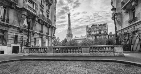 View from the Avenue de Camoens of the Eiffel Tower in paris, france- Stock Photo or Stock Video of rcfotostock | RC-Photo-Stock