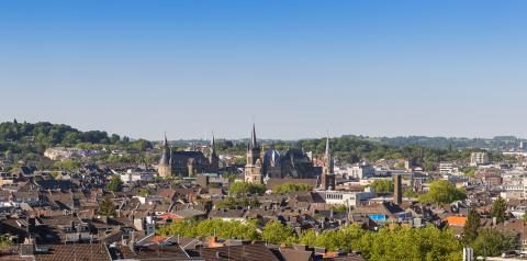 view of Aachen (aix-la-chapelle) at summer- Stock Photo or Stock Video of rcfotostock | RC-Photo-Stock