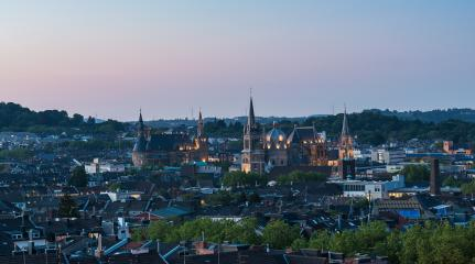 view of Aachen at dusk : Stock Photo or Stock Video Download rcfotostock photos, images and assets rcfotostock | RC-Photo-Stock.: