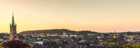 view of aachen city at sunset- Stock Photo or Stock Video of rcfotostock | RC-Photo-Stock