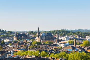 view of aachen city with town hall and cathedral- Stock Photo or Stock Video of rcfotostock | RC-Photo-Stock