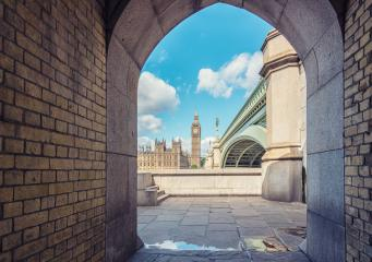 View of Big Ben through the pedestrian tunnel in London, England- Stock Photo or Stock Video of rcfotostock | RC-Photo-Stock