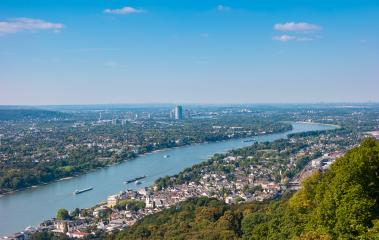 View of Bonn City at summer from the Drachenfels- Stock Photo or Stock Video of rcfotostock   RC-Photo-Stock
