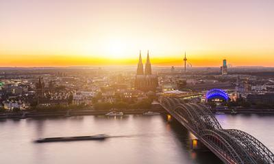 view of cologne at sunset- Stock Photo or Stock Video of rcfotostock | RC-Photo-Stock