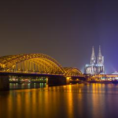 view of Cologne Cathedral at night- Stock Photo or Stock Video of rcfotostock | RC-Photo-Stock