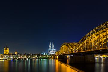 view of Cologne Cathedral at night : Stock Photo or Stock Video Download rcfotostock photos, images and assets rcfotostock | RC-Photo-Stock.: