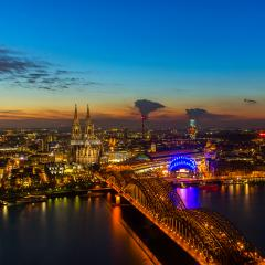 view of Cologne Cathedral at sunset : Stock Photo or Stock Video Download rcfotostock photos, images and assets rcfotostock | RC-Photo-Stock.: